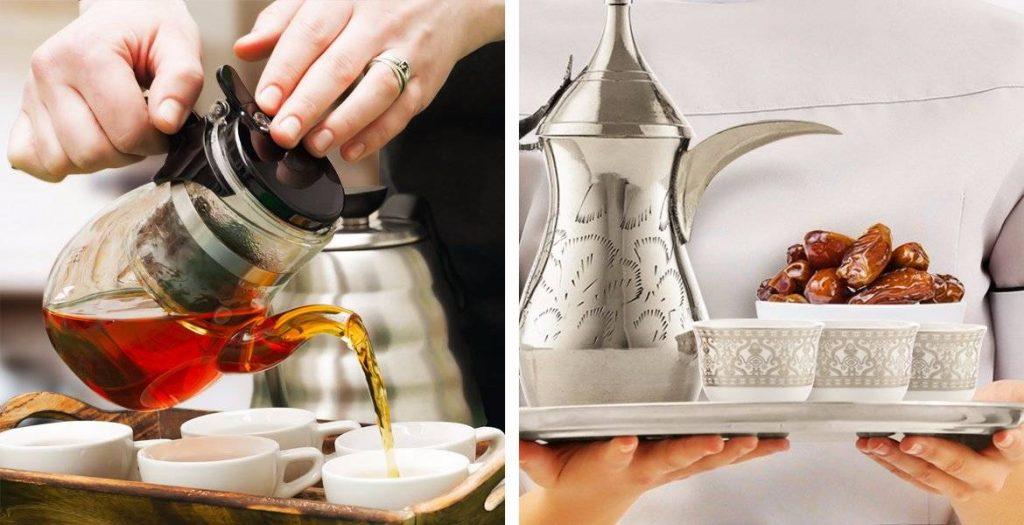 خدمة شاي وقهوه للاستقبال